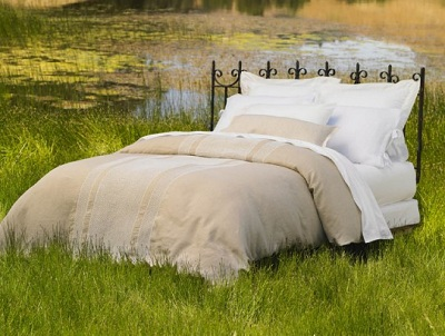 Coyuchi Linen Duvet Cover and Decorative Pillow