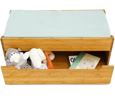 Dresser-Top Changing Table Trunk or Kids Storage Bench