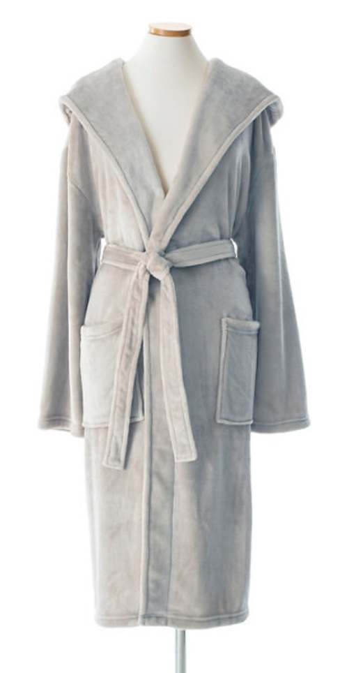 Ultra Soft Fleece Hooded Robe