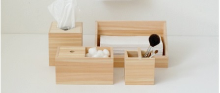 Hinoki Wood Bath Accessories