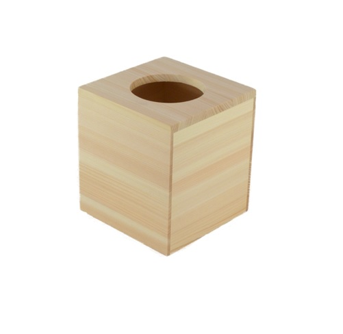 Hinoki Wood Tissue Box Cover