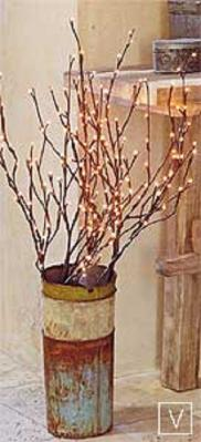 Lighted Willow Branches