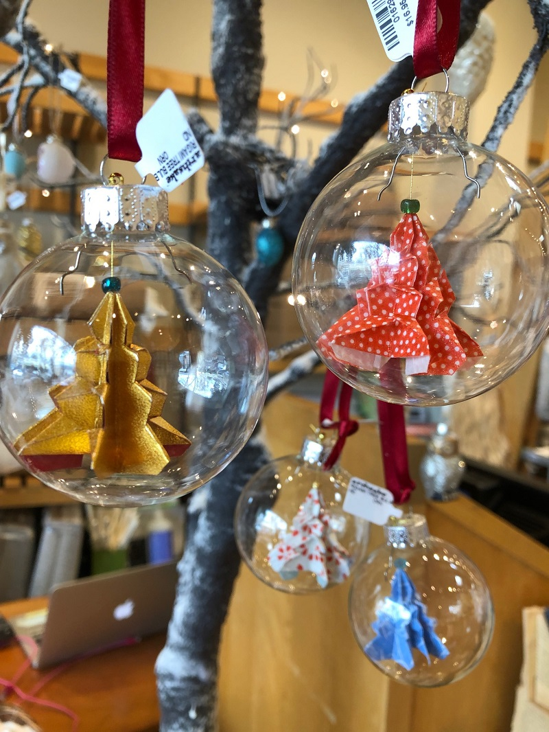Origami in Bulb Ornaments