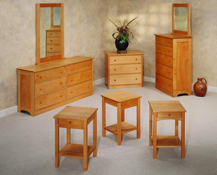 Pacific Cherry Wood Dressers, Nightstands, Cabinets, Desks