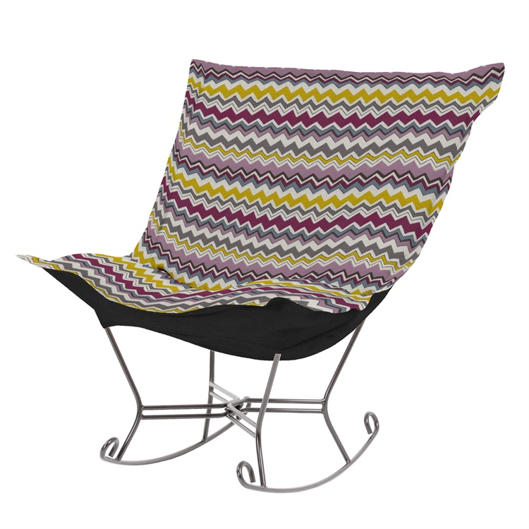 Scroll Puff Rocker - On SALE - Scroll Puff Rocking Chair