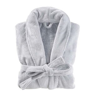 Plush Frosted Fleece Robe