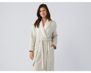 Organic Cotton & Linen Herringbone Robes