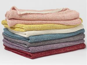 Organic Cotton Chenille Chunky Weave Blankets
