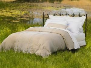 Labyrinth Linen Duvet Cover, Shams, & Decorative Pillow