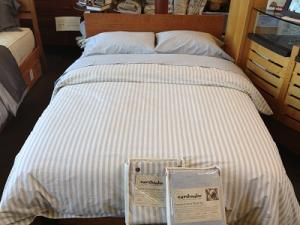 Exceptional EarthStripe Organic Cotton Duvet Cover   Twin