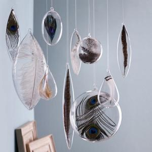 Floating Feather Bulb Ornaments