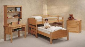 Pacific Maple Four-in-One Kids Bed System