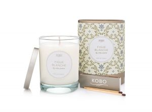 Kobo Soy Candles - Motif Collection - Set of 6 candles - Figue Blanche, Gardenia Royal, Leather MAhogany, Orange Amber, Tabac and Talc,  & Zapote
