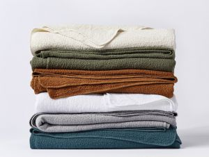 Organic Cotton Cascade Blanket and Shams - Matelasse