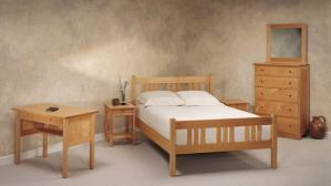Pacific Maple Arts & Crafts Bed