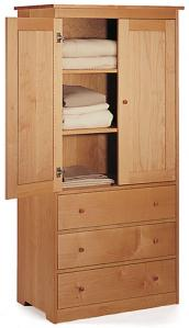Pacific Maple Wardrobe Cabinet