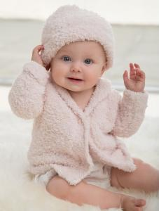 CozyChic Infant Cardigan & Hat Set