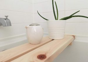 Hinoki Wooden Tub Bench