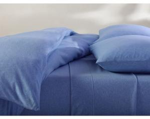Organic Jersey Sheets & Duvets - Deep Blue Heather