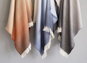 Wool Ombre Throw Blanket