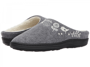 Henna Wool Scuff Slippers for Women