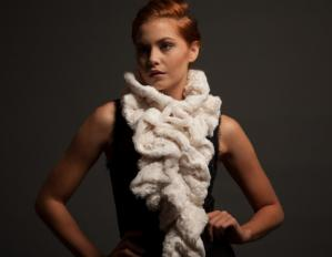 Lux-Plush Channel Ruffle Scarf