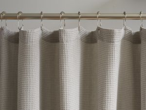 Organic Cotton Shower Curtain - Waffle
