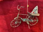 earthSake Holiday Old Fashioned Tin Bike Ornament