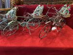 earthSake Holiday Old Fashioned Tin Bike Ornaments 2020