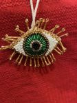 earthSake El Ojo Beaded Eye Holiday Ornament
